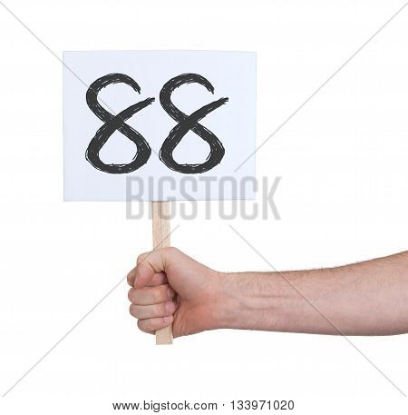 Sign With A Number, 88