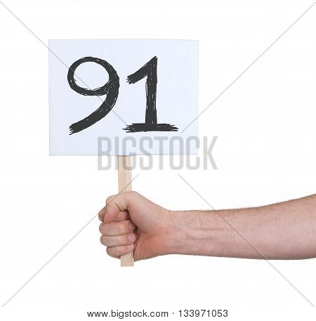 Sign With A Number, 91