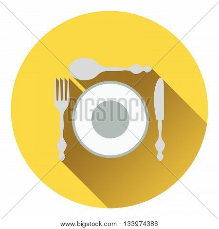 Silverware And Plate Icon