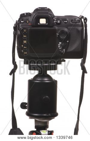 Digital Camera Dslr On Tripod