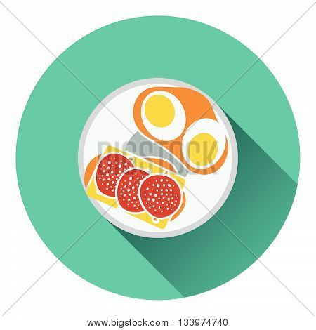 Omlet And Sandwich Icon