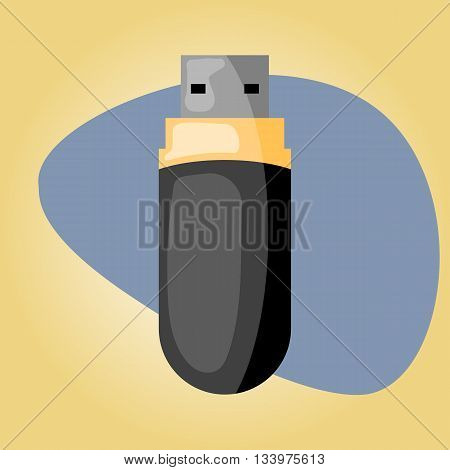 Usb colorful icon, Usb colorful icon eps 10, Usb colorful icon vector, Usb colorful icon jpg. Vector illustration in cartoon style