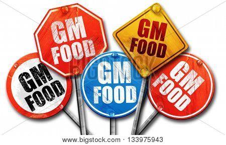 gm food, 3D rendering, street signs