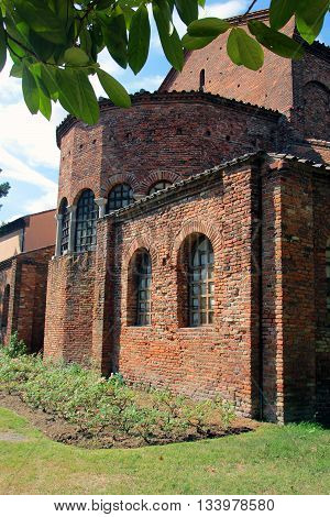 beautiful church San Giovanni Evangelista in Ravenna Italy