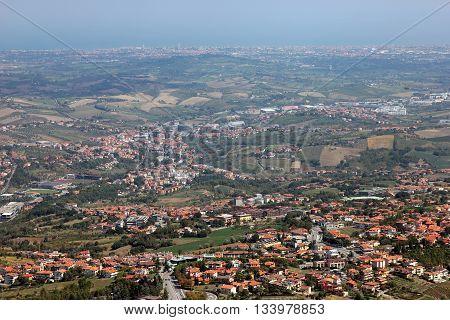 beautiful landscape view of the surroundings of San-Marino