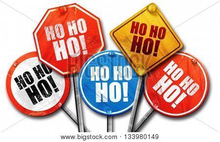 ho ho ho, 3D rendering, street signs