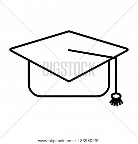 graduation hat with a tassel vector design , Vector