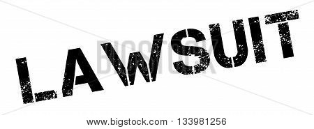 Lawsuit Black Rubber Stamp On White
