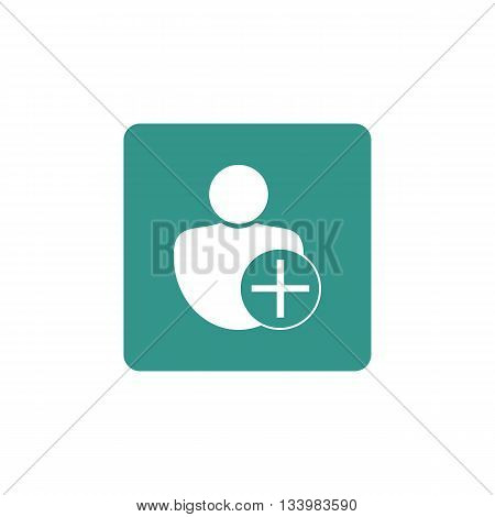 User Add Icon In Vector Format. Premium Quality User Add Symbol. Web Graphic User Add Sign On Green