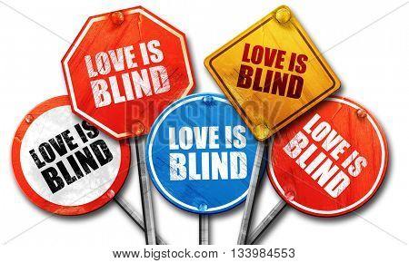 love is blind, 3D rendering, street signs
