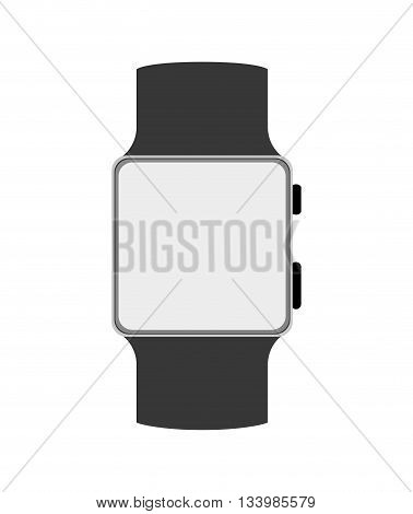 isolated smart watch icon with button and leash , Vector