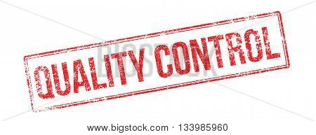 Quality Control Red Rubber Stamp On White