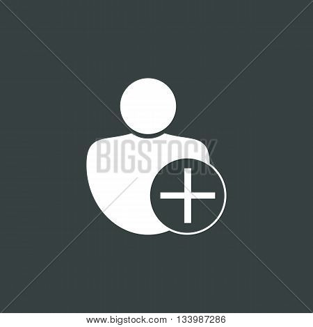 User Add Icon In Vector Format. Premium Quality User Add Symbol. Web Graphic User Add Sign On Dark B