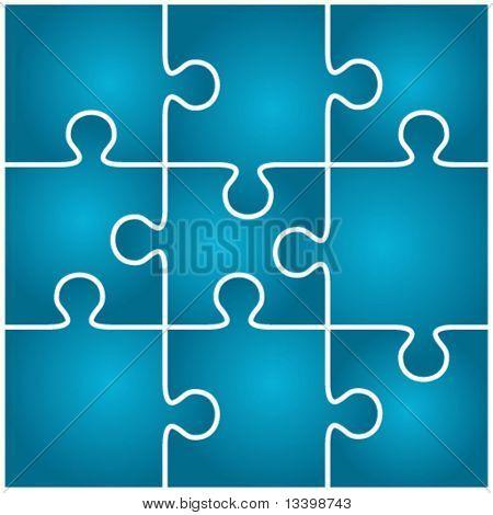 Blue vector puzzle