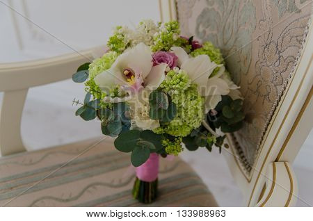 Small tender bouqet of fresh spring flowers