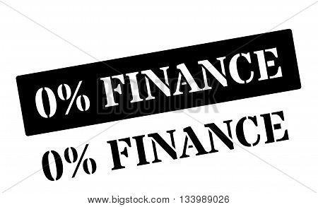 Zero Percent Finance Black Rubber Stamp On White