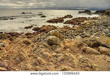 Monterey Bay from Asilomar State Marine Reserve California