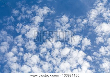 Fluffy clouds sunny day sunshine blue skies white clouds