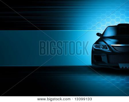 Sport car background