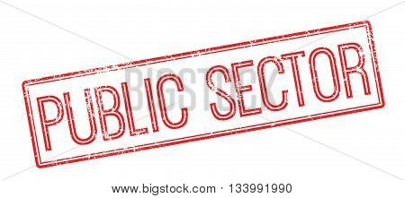 Public Sector Red Rubber Stamp On White