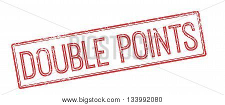 Double Points Red Rubber Stamp On White