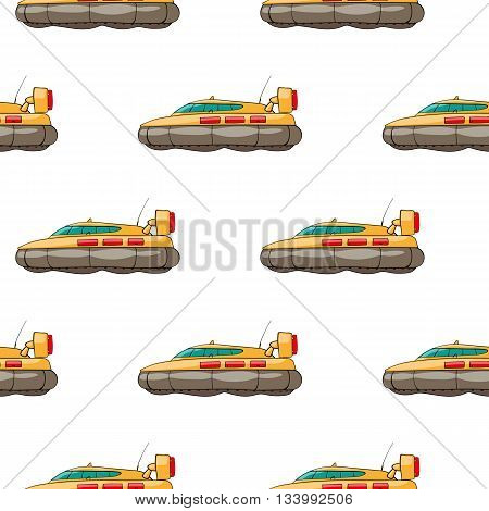 vector seamless pattern. Hand drawn water transport. kids toy hovercraft
