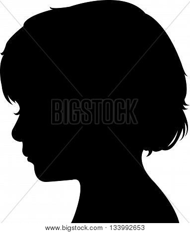 a child head silhouette vector art work