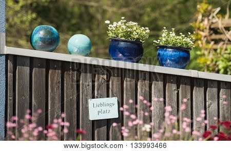 Colorful potted flowers used to decorate the garden.