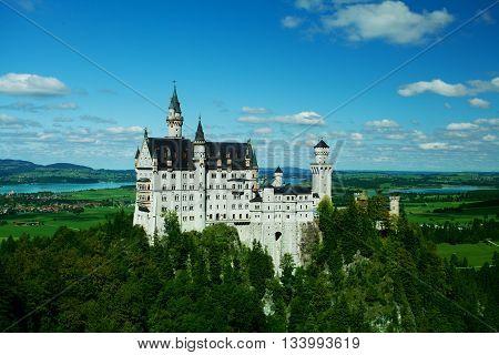 Neuschwanstein Castle Bavaria Germany - spring landscape