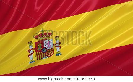 Flag of Spain. Flag series.