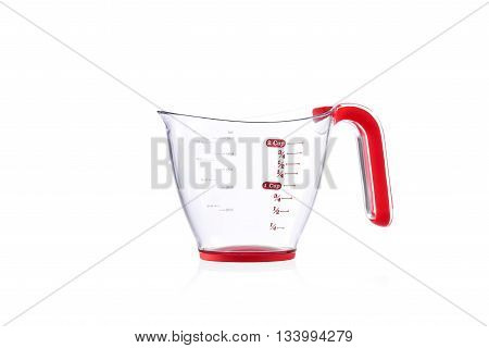 Modern imperial measuring cup isolated on white background