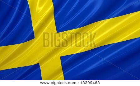 flag of sweden. flag series.