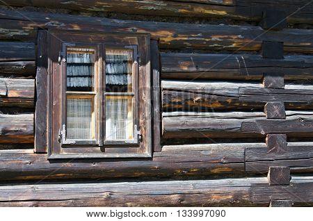 Old Wooden Blockhouse Window