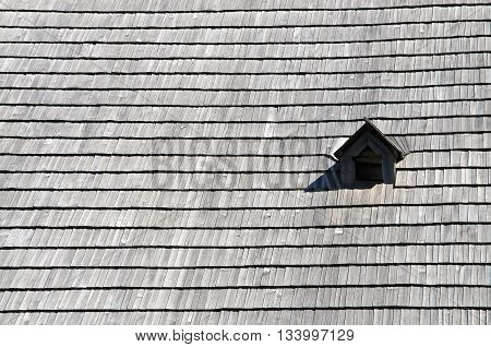 Old Wood Tile With Dovecote