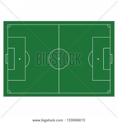 Soccer, football field, infographics app and design horisontal