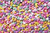 foto of valentine heart  - colorful valentines heart candy that can be used as a background - JPG
