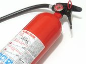 picture of fire extinguishers  - fire extinguisher with instructions in blue and white - JPG