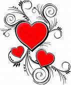 love hearts decoration