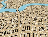 picture of municipal  - Editable vector illustration of an angled generic street map with no names - JPG