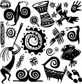stock photo of primite  - Elements for designing primitive art - JPG
