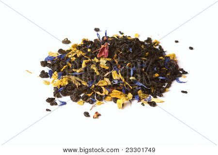 Flower Tea Isolated On White Background