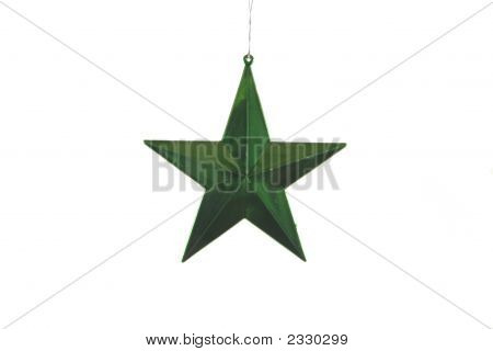 Green Christmas Star