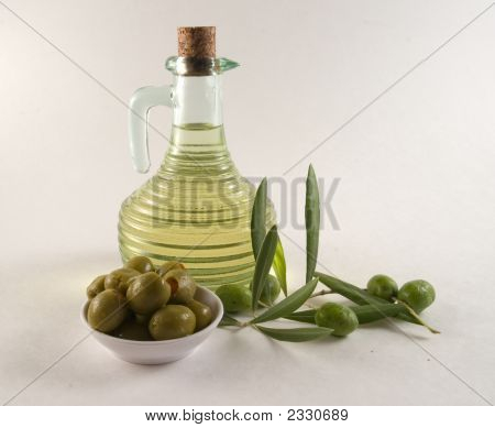 Bottle And Olives