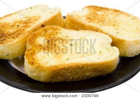 Close Up Of Garlic Bread