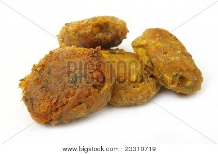 Arabian Kabab of fried meat