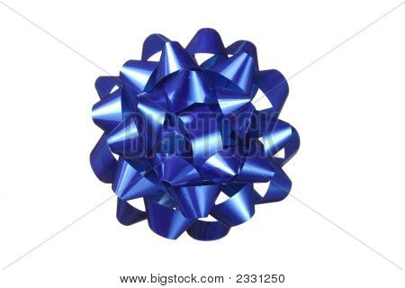 Blue Bow Decoration