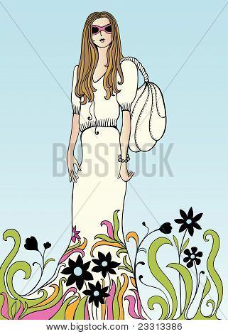 Flower power girl