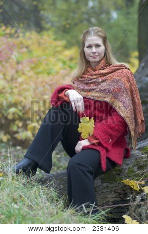 Woman With Maple Leaf