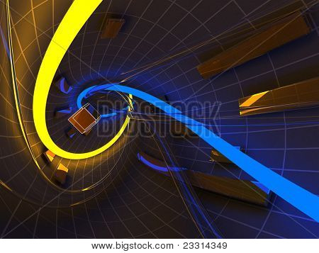 Abstract futuristic tunnel