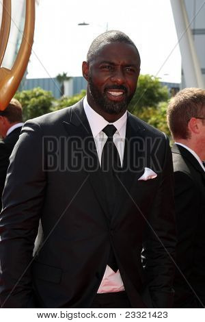 LOS ANGELES - SEP 10:  Idris Elba arriving at the Creative Arts Emmys 2011 at Nokia Theater  on September 10, 2011 in Los Angeles, CA